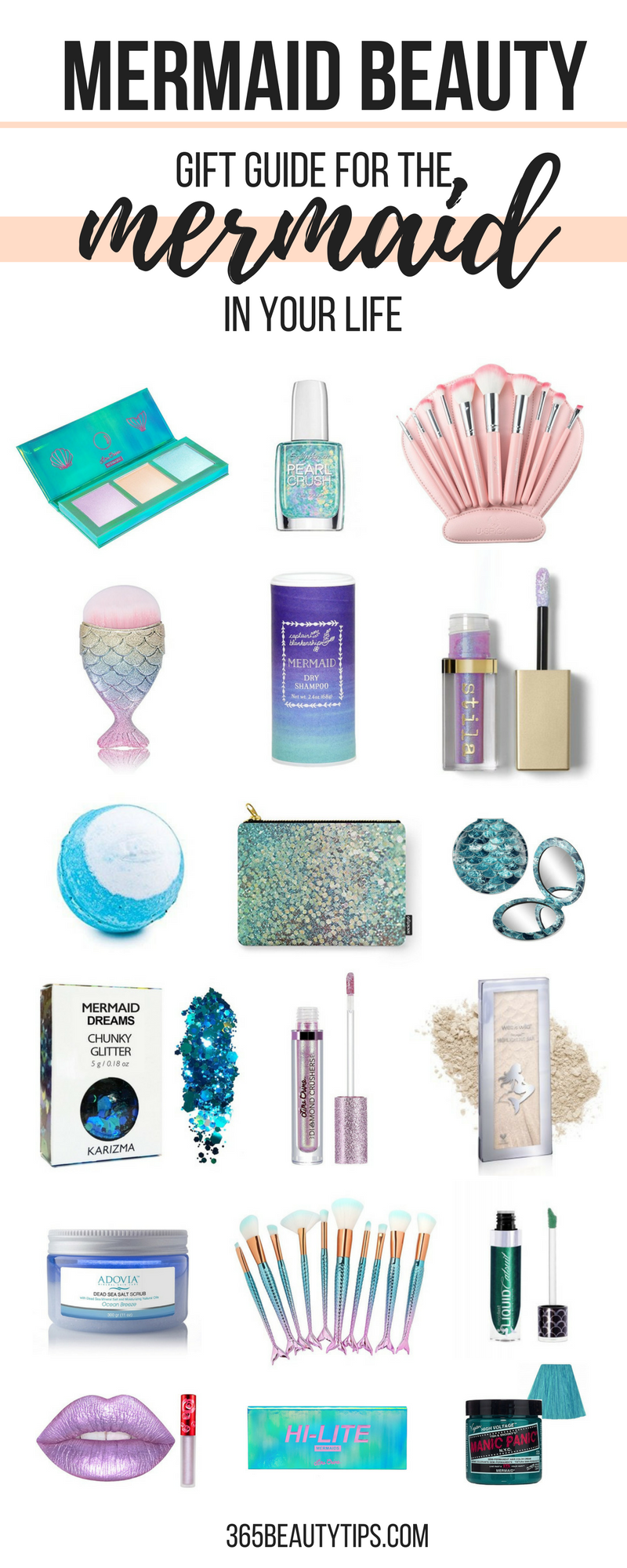 Mermaid Beauty Products Holiday Gift Guide For The Mermaid In