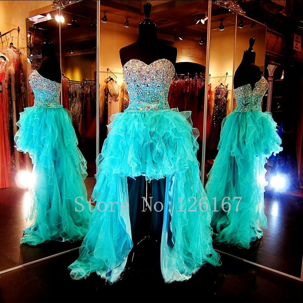 Aliexpress.com : Buy Short front Long Back Beaded Prom Dress 2016 ...