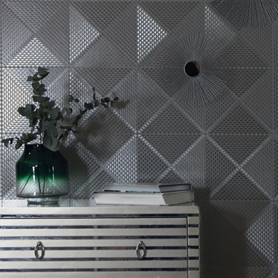 Wm90330101 Gunmetal Gray Foil Metallic Diamonds Textured Modern Wallpaper 3d With Images Modern Wallpaper Wallpaper Design Pattern Contemporary Geometric Wallpaper