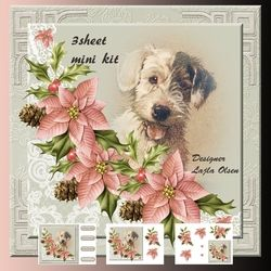 Dog and Poinsettias on Craftsuprint - View Now!