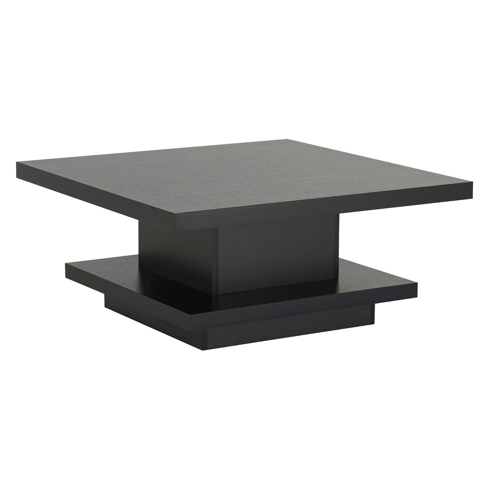 Traci Contemporary Pagoda Style Coffee Table Black - Furniture of America, Galaxy Black