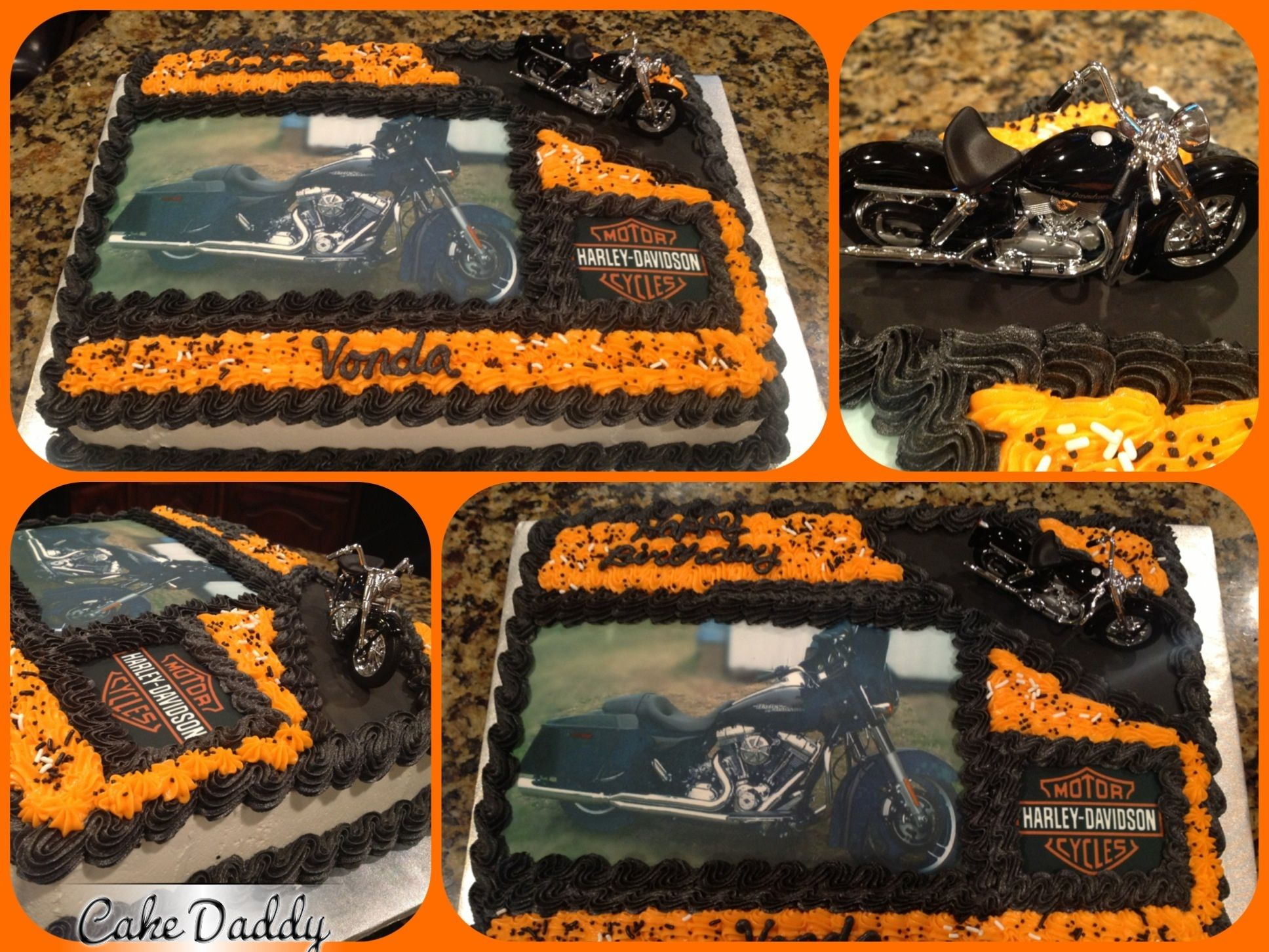 Harley Davidson sheet cake Custom Cakes by Cake Daddy Pinterest
