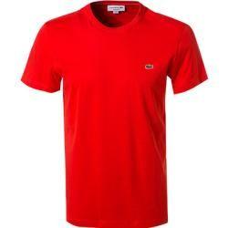 Lacoste Herren T-Shirts, Regular Fit, Baumwolle, tomatenrot Lacoste