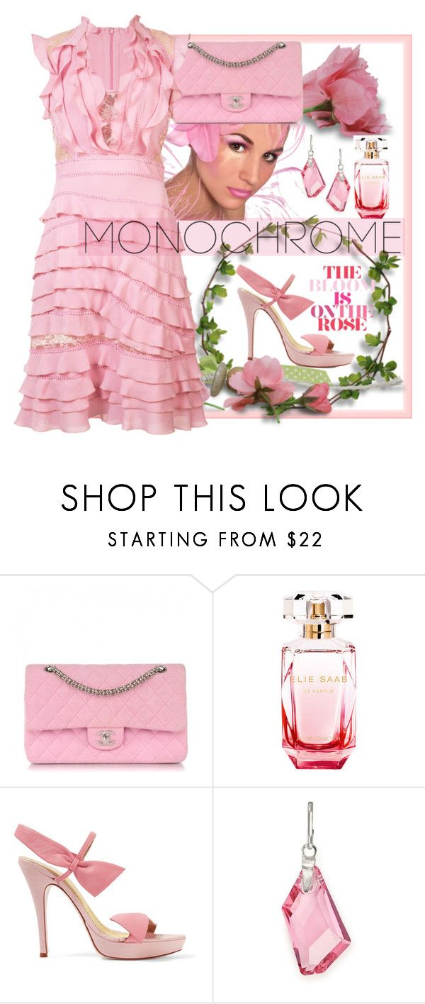 """""""Color Me Pretty: Head-to-Toe Pink"""" by easy-dressing ❤ liked on Polyvore featuring Chanel, Elie Saab, RED Valentino and Alex and Ani"""