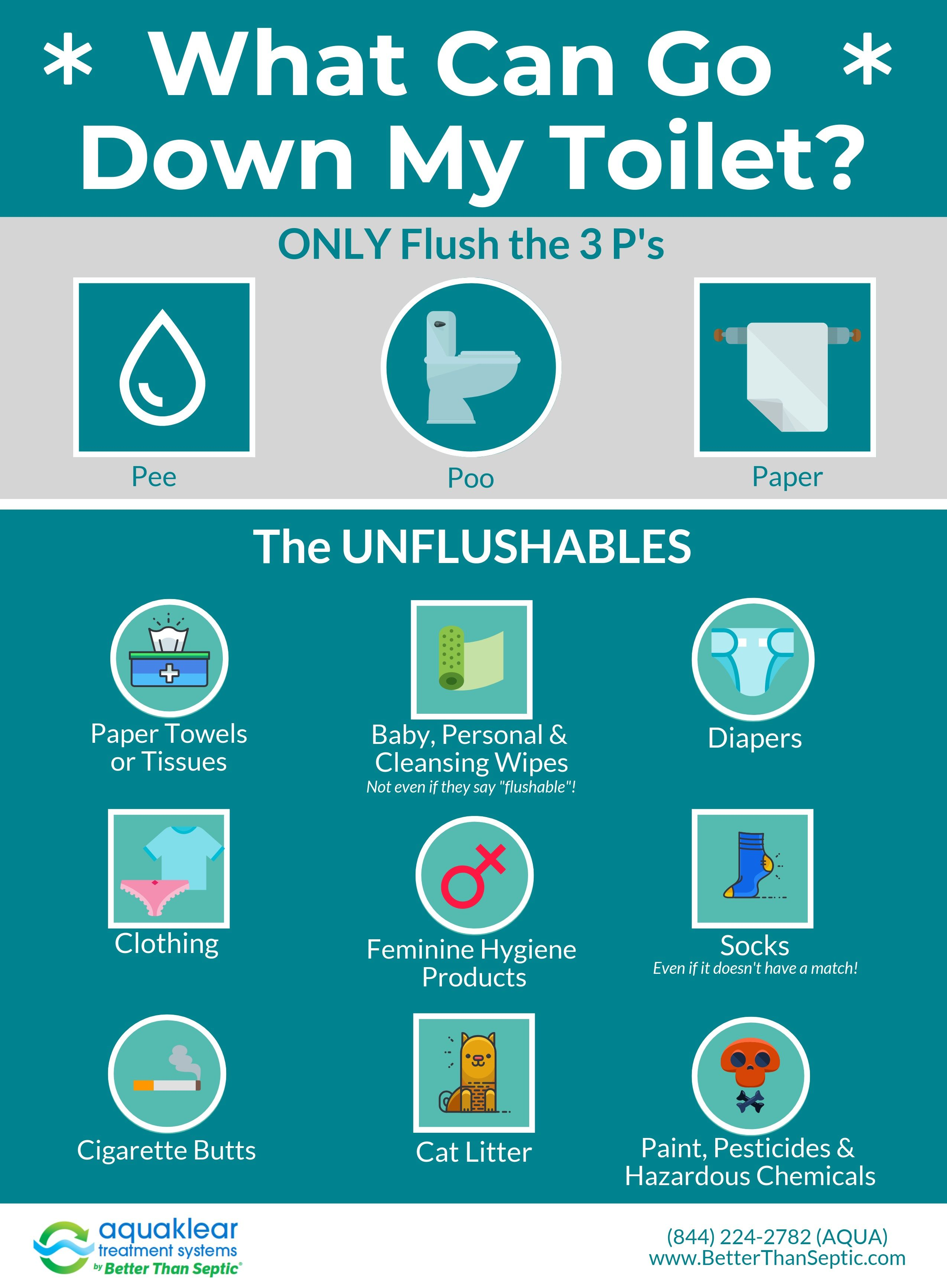 Never Flush These Items In 2020 Flush Toilet Septic System