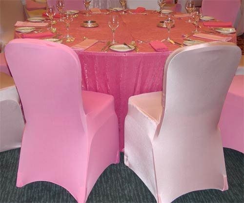 Light Pink Spandex Chair Covers Stretch Dining Room Seat Uk Wedding Weddings