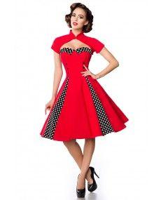 robe vintage avec bol ro swing pinup rock belsira de la taille xs 3xl gertrude creation. Black Bedroom Furniture Sets. Home Design Ideas