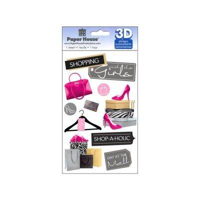 Stickers   Paper House Sticker 3D Shopping Girls   Blitsy