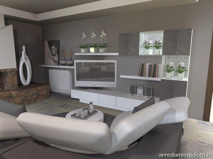 Soggiorno in pietra Stone con divano curvo Florida - DIOTTI A&F ...