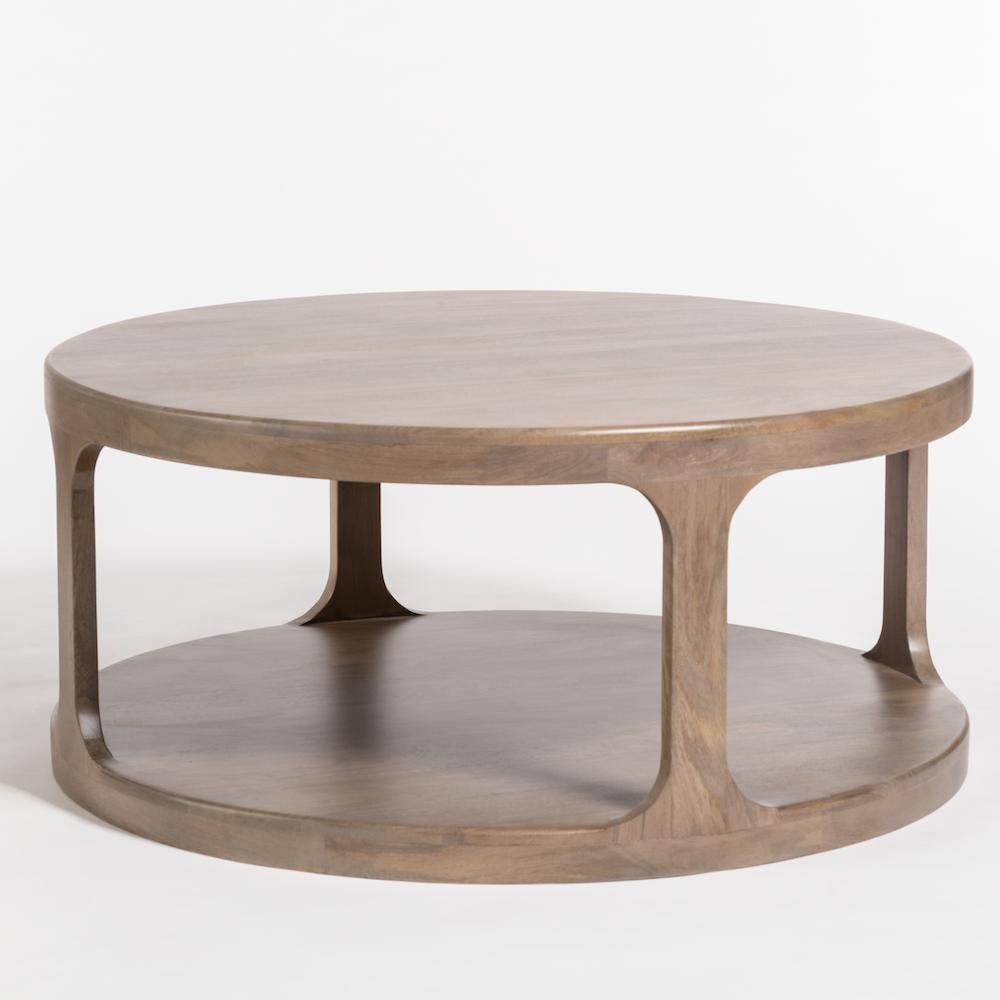 Mason Coffee Table Alder Tweed Furniture Round Wood Coffee Table Coffee Table With Shelf Coffee Table [ 1000 x 1000 Pixel ]