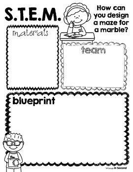 FREEBIE* Marble Maze STEM Planning Sheet #stemactivitieselementary