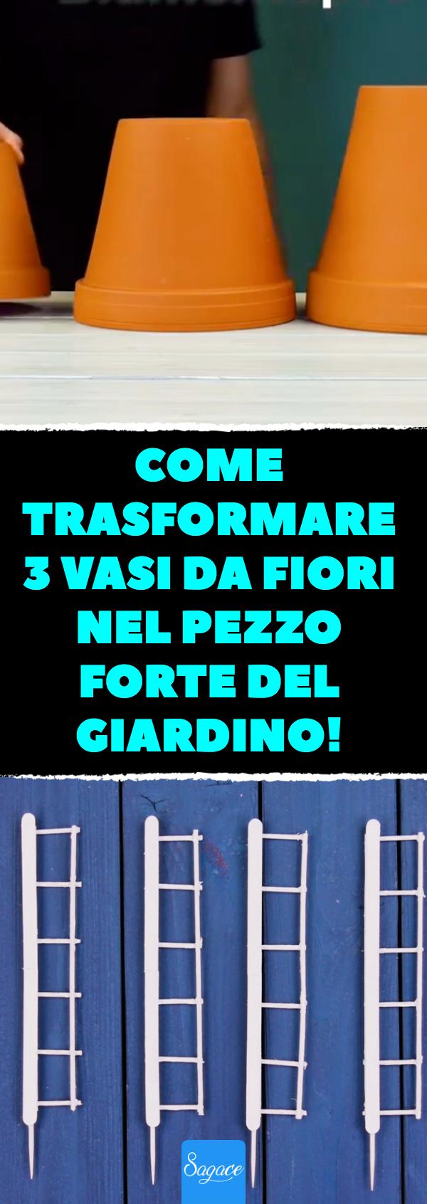 Photo of Come trasformare 3 vasi da fiori NEL pezzo forte del giardino!