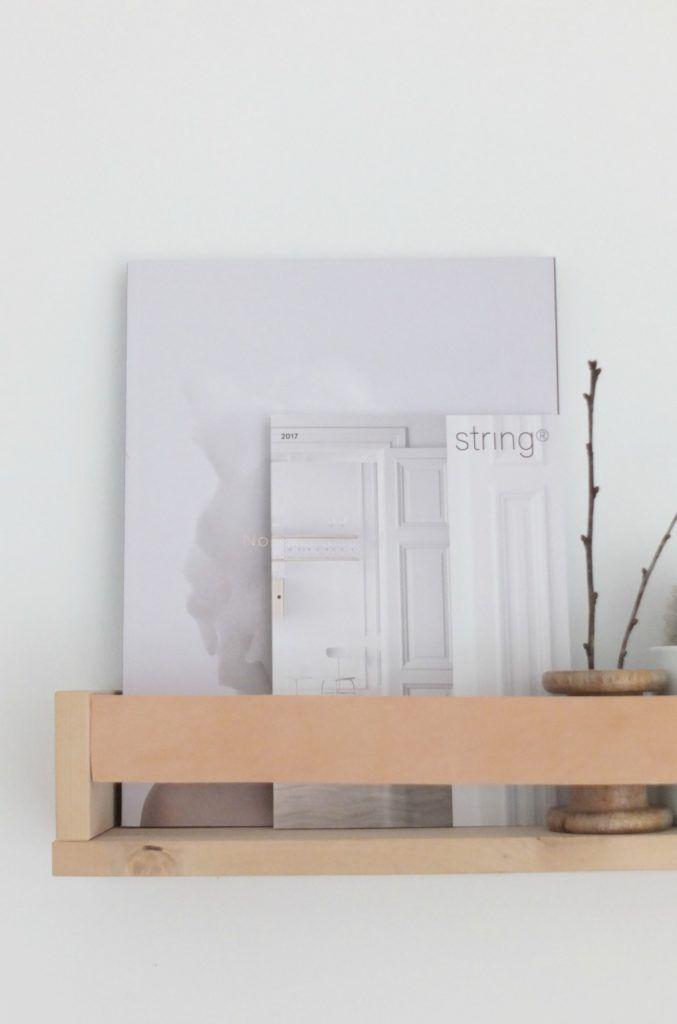 diy magazinhalter mit lederband ein kleines super. Black Bedroom Furniture Sets. Home Design Ideas