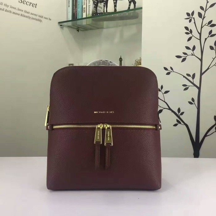 803ad827699a MICHAEL Michael Kors Rhea Medium Slim Leather Backpack Burgundy ...