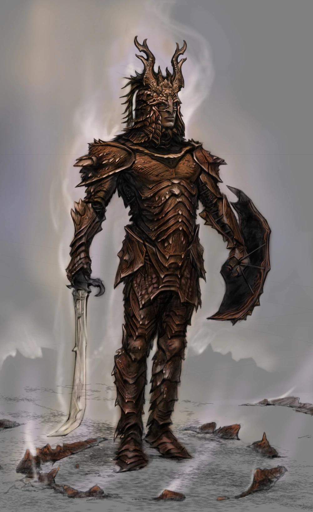 Concept Art Skyrim Elder Scrolls Fandom Dragon Armor Skyrim Concept Art Skyrim Dragonscale Armor