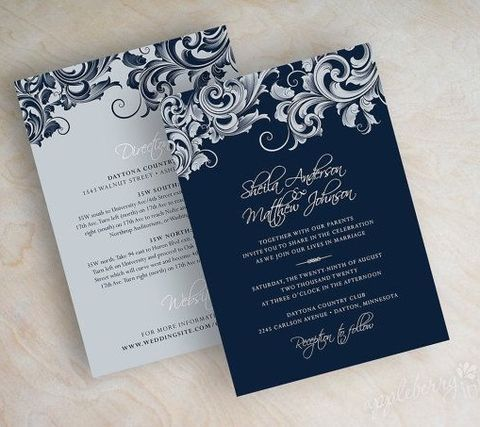 45 Gorgeous Navy And Silver Wedding Ideas Navy Wedding Invitations Navy And Silver Wedding Invitations Cheap Wedding Invitations