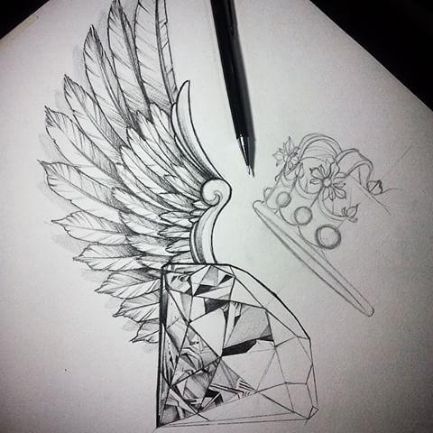 Desenho Pra Cliente Em Andamento Tattoo Wings Asas