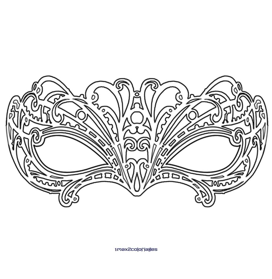 L gant coloriage de masque de carnaval a imprimer des milliers de coloriage imprimable - Coloriage masque ...