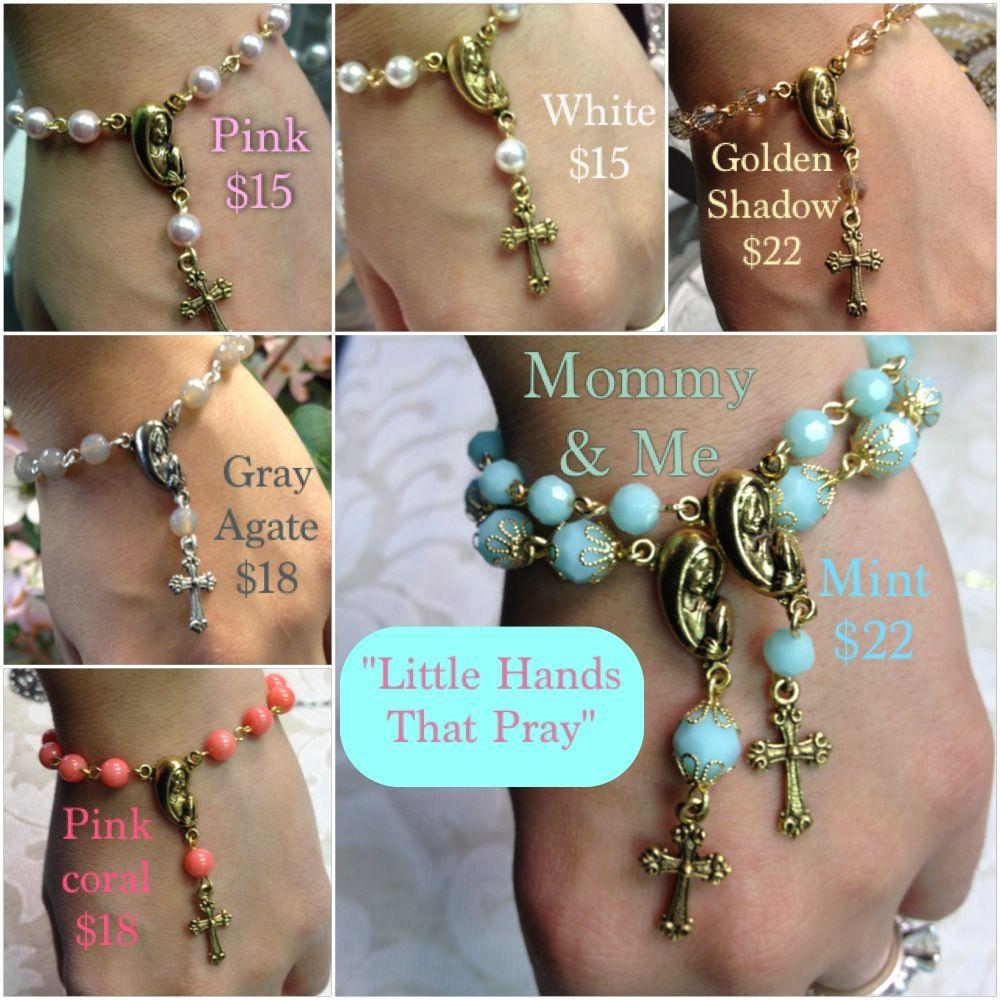 Handmade swarovski crystal or gemstone rosary bracelet jewelry