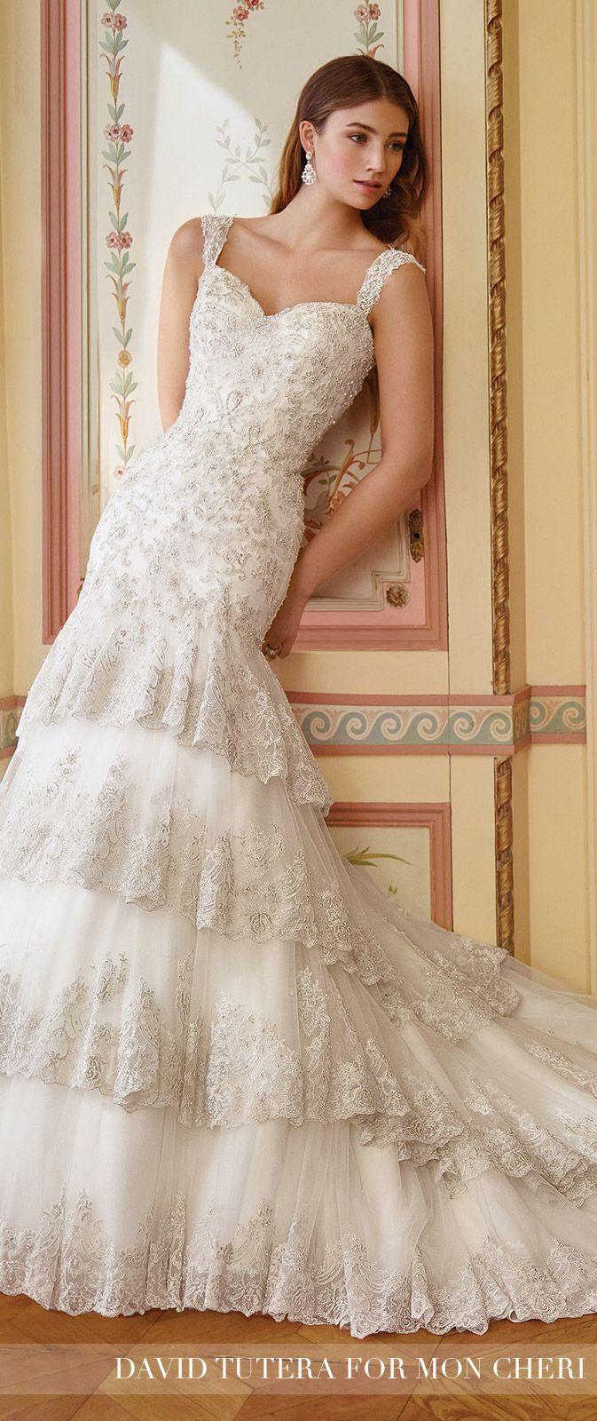 David wedding dress  Embroidered Lace Mermaid Layered Wedding Dress  Isabelline