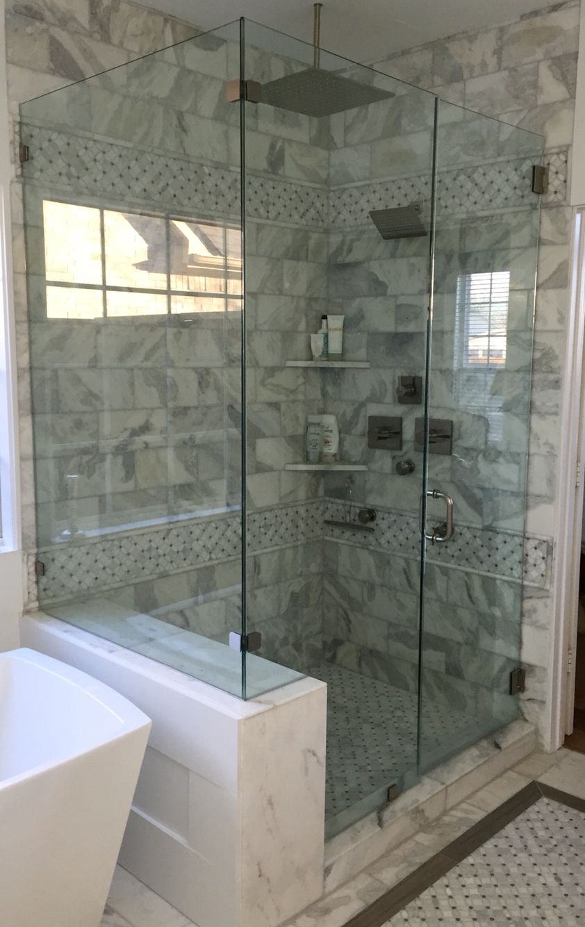 Carrera marble shower with 2 rain heads and body sprays | Carrera ...
