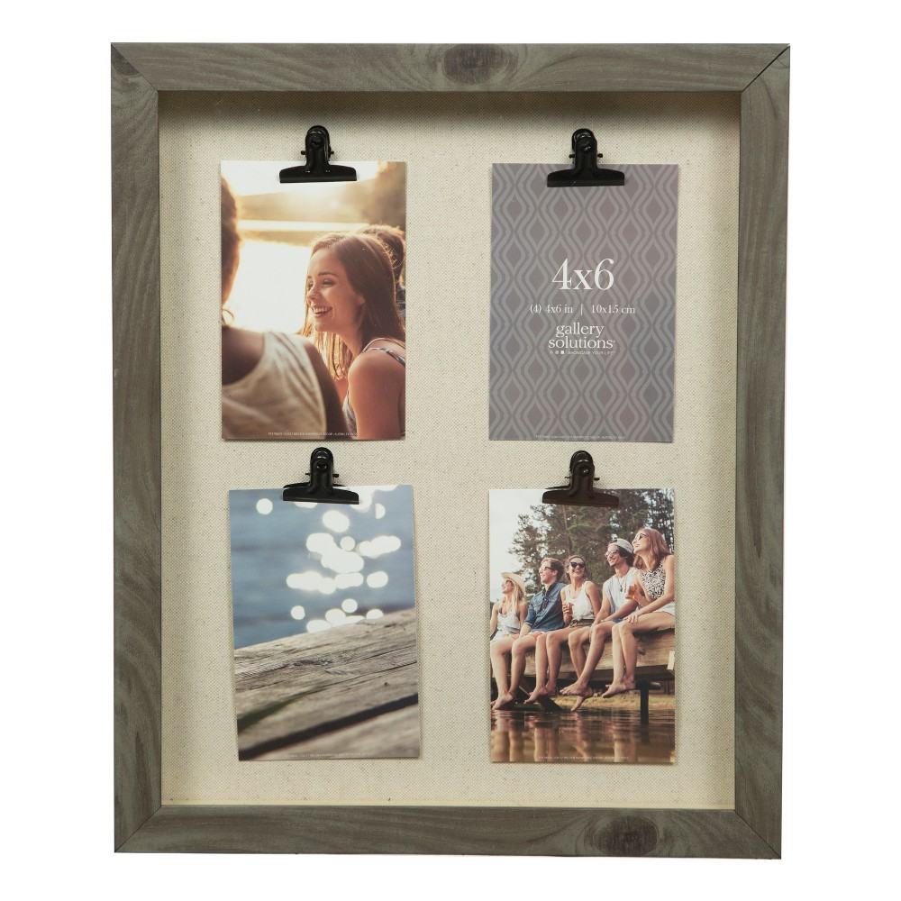 Multiple Image Frame Black 12x18 - Gallery Solutions, Charcoal ...