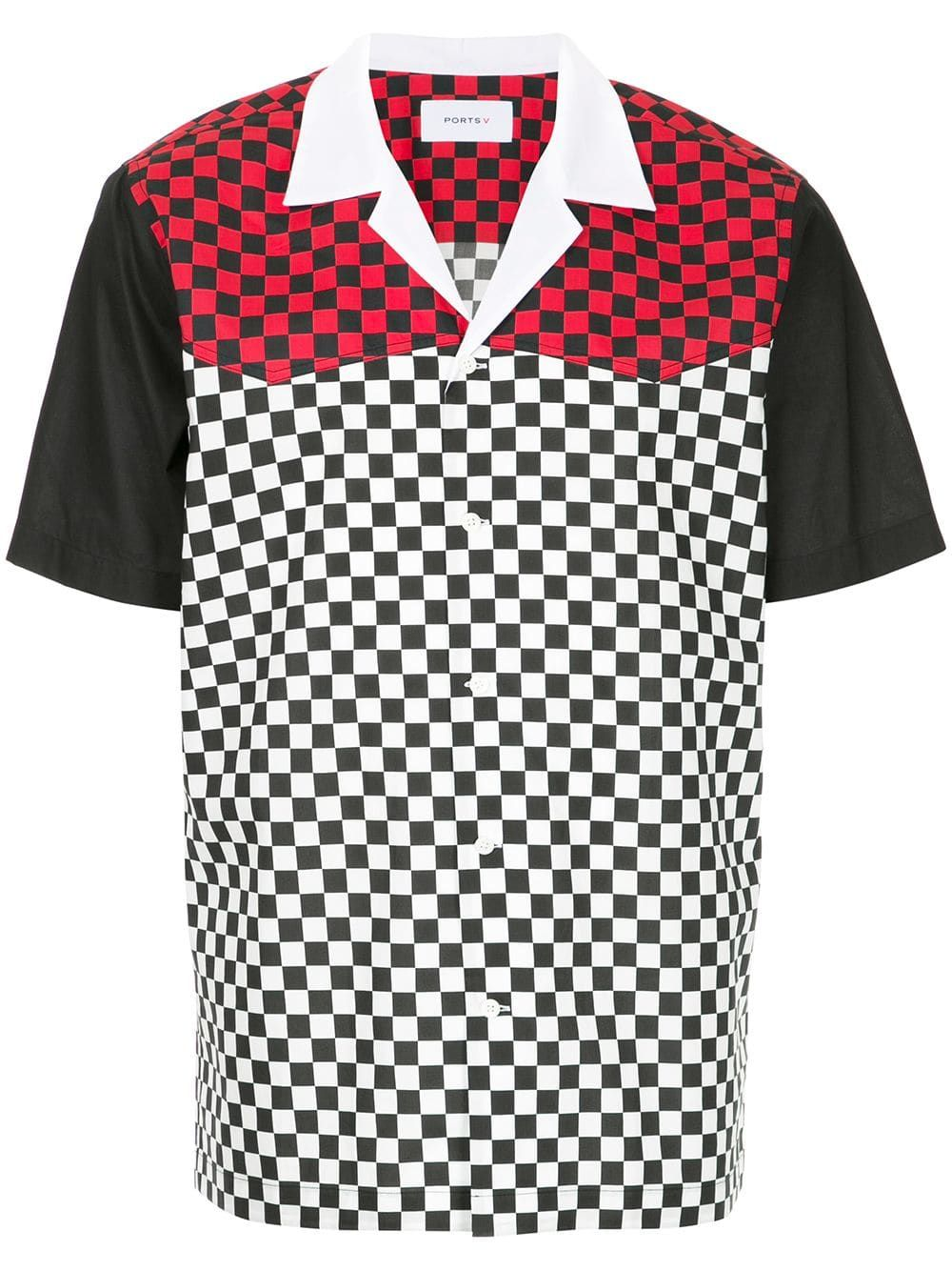 Checkered And Colour Block Print Shirt Printed Shirts Shirts