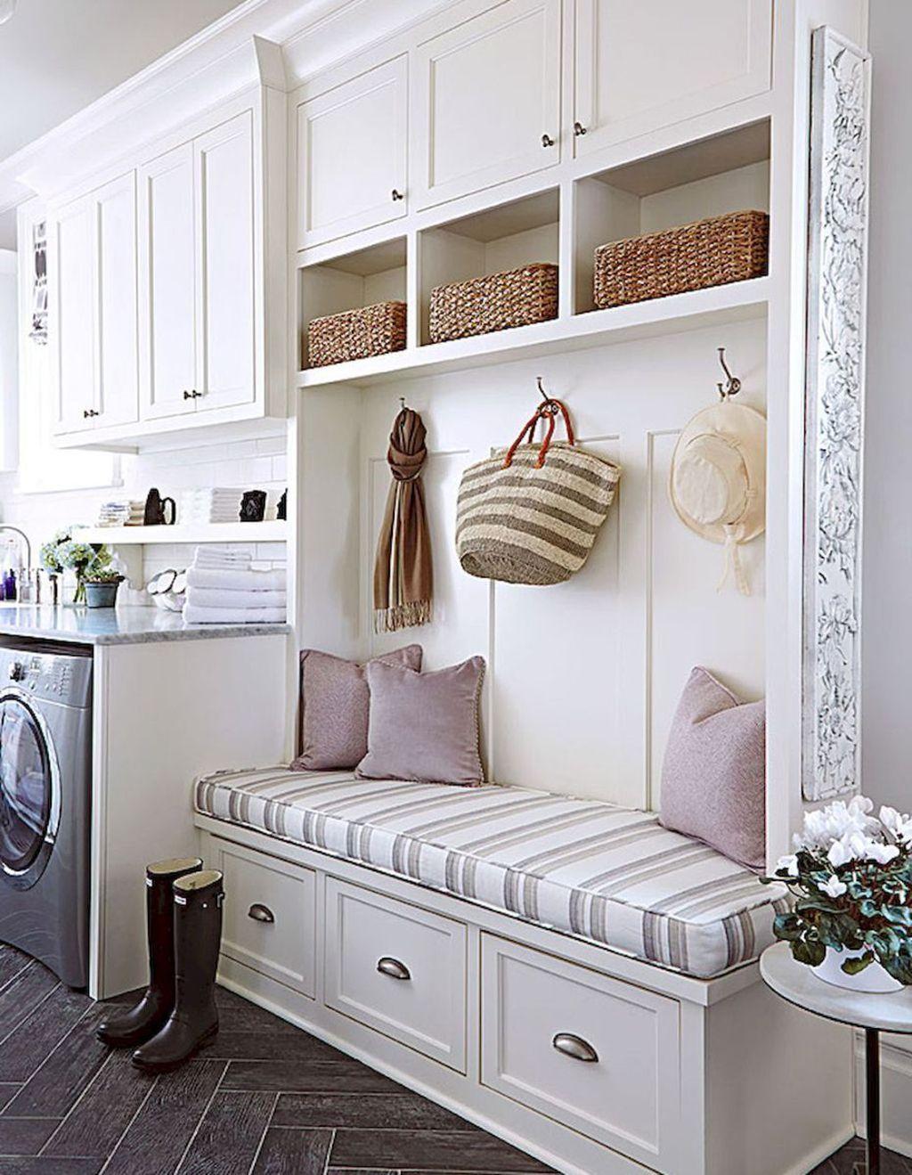 38 Inspiring Rustic Small Mudroom Bench Ideas Laundry Room Design Mudroom Laundry Room Home Decor