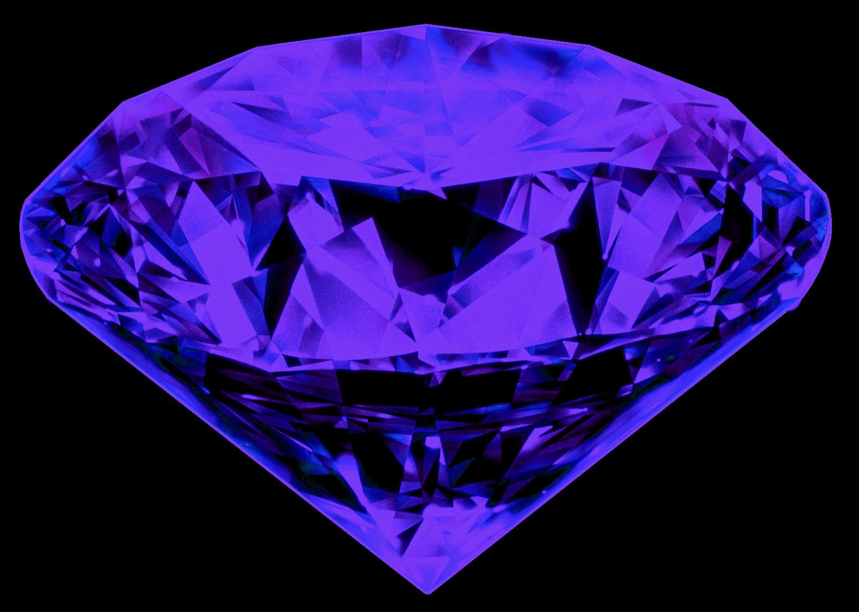One And Half Diamond Png Image Purple Diamond Crystals Purple Necklace