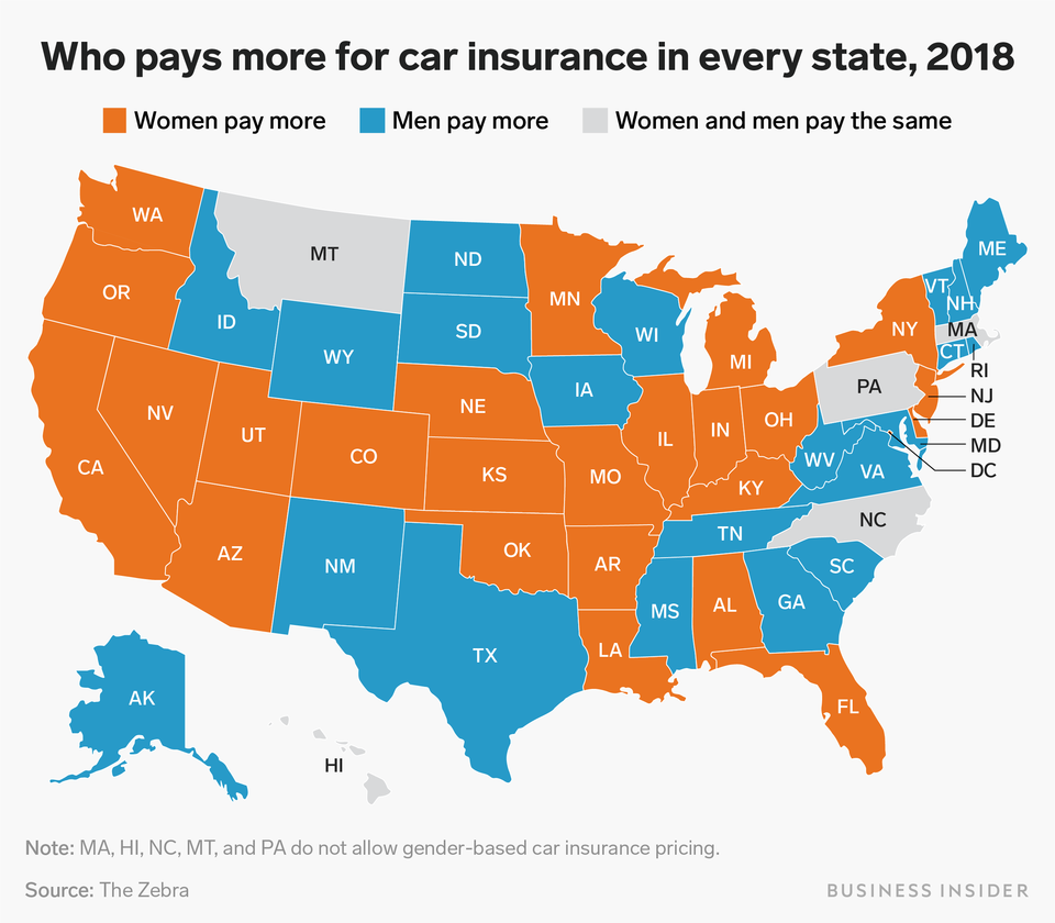 Car Insurance Rates Are Going Up For Women Across The Us Here S Where They Pay More Than Men Car Insurance Car