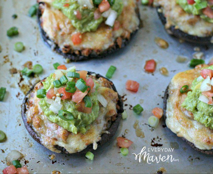 Ground Chicken Taco Stuffed Portabello Mushrooms. A naturally gluten and grain way to enjoy everything you love about tacos! Also - low carb!