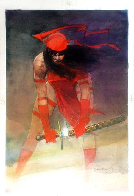Bill Sienkiewicz art work. A great rendition of Elektra