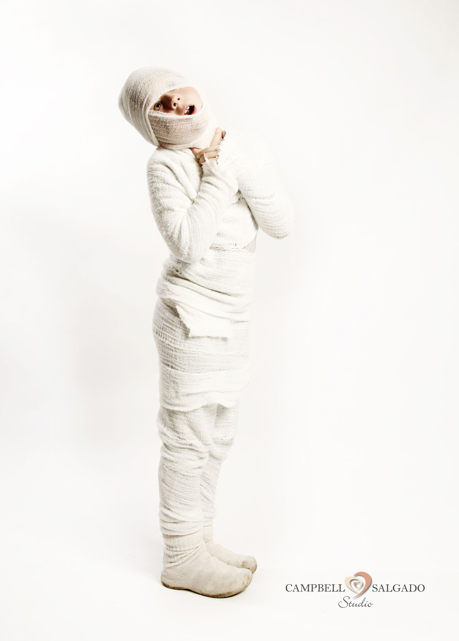 A fantastic gauze, homemade Mummy Halloween costume