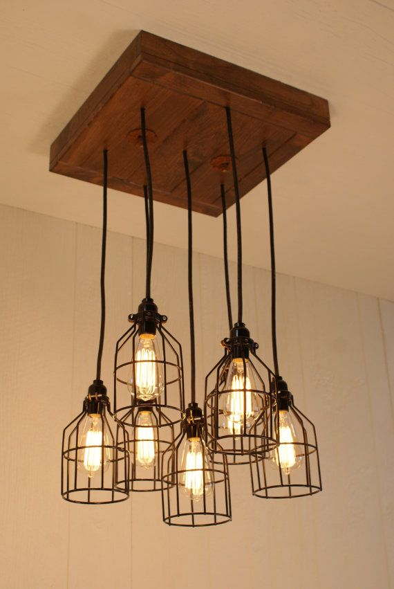 Cage Light Chandelier Cage Lighting By Bornagainwoodworks Cage