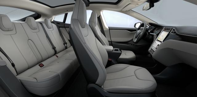 Tesla grey interior