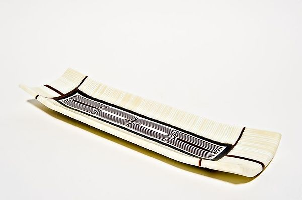 Creme Caramel Platter by Helen Rudy: Art Glass Platter available at www.artfulhome.com