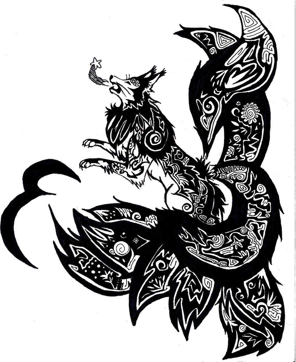 kitsune tattoos google search tattoo pinterest mitolog a tatuajes y dibujo. Black Bedroom Furniture Sets. Home Design Ideas