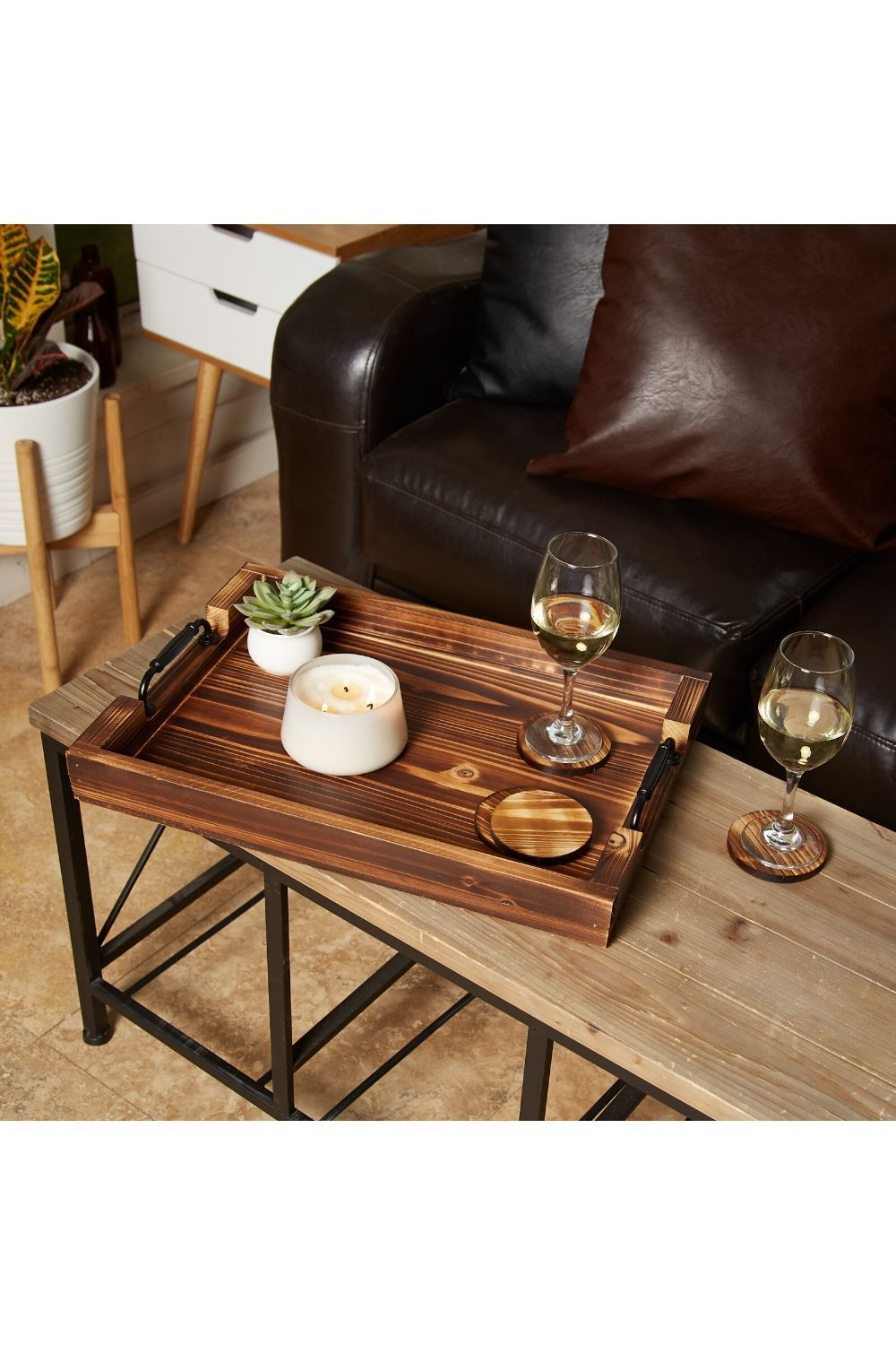 Coffee Table Tray Rustic Serving Trays Coffee Table Organization Coffee Table [ 1500 x 1000 Pixel ]
