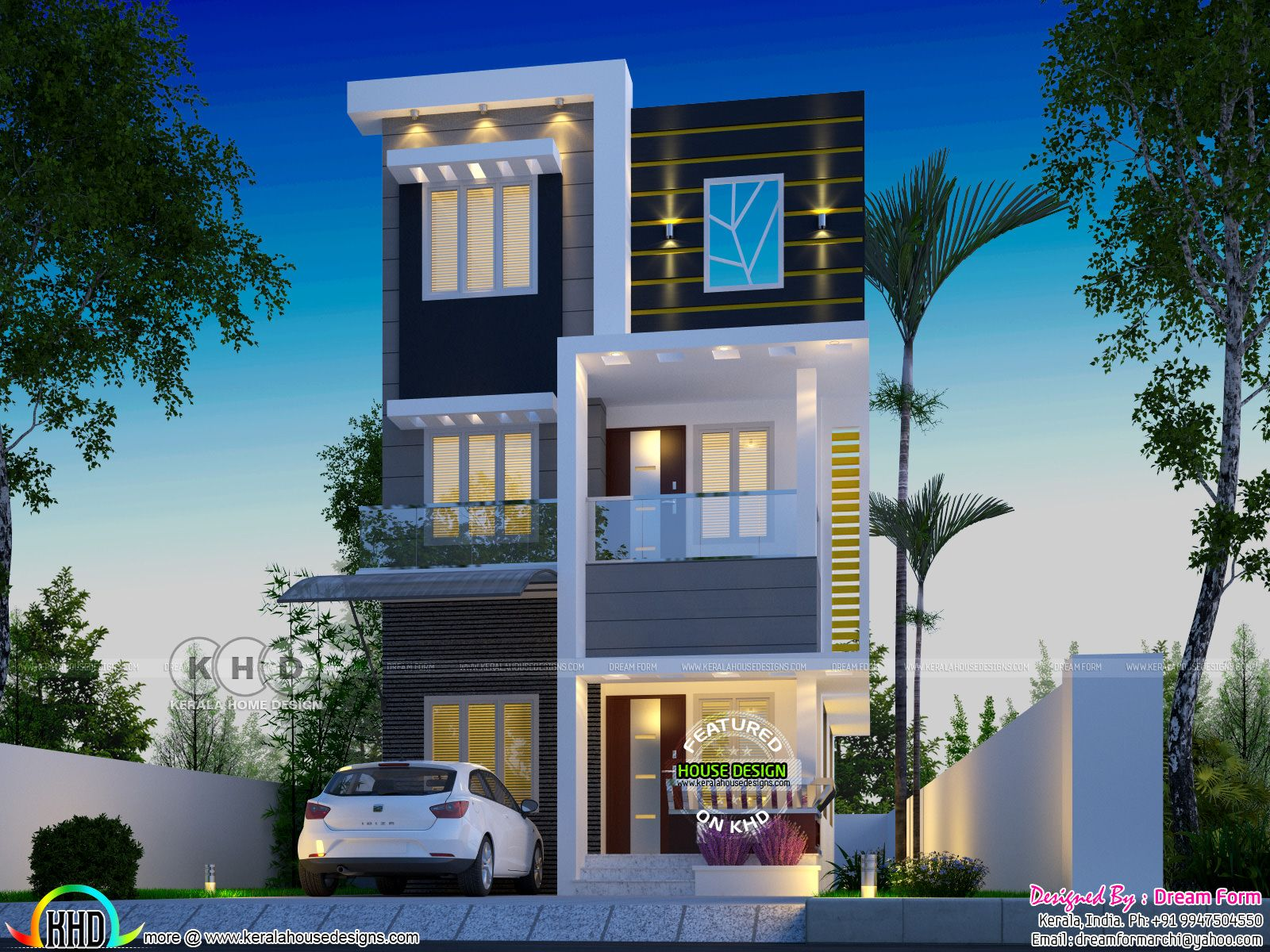 Beautiful 3 Bedroom Home Under 1000 Sq Ft Beach House Plans Kerala House Design House Front Design