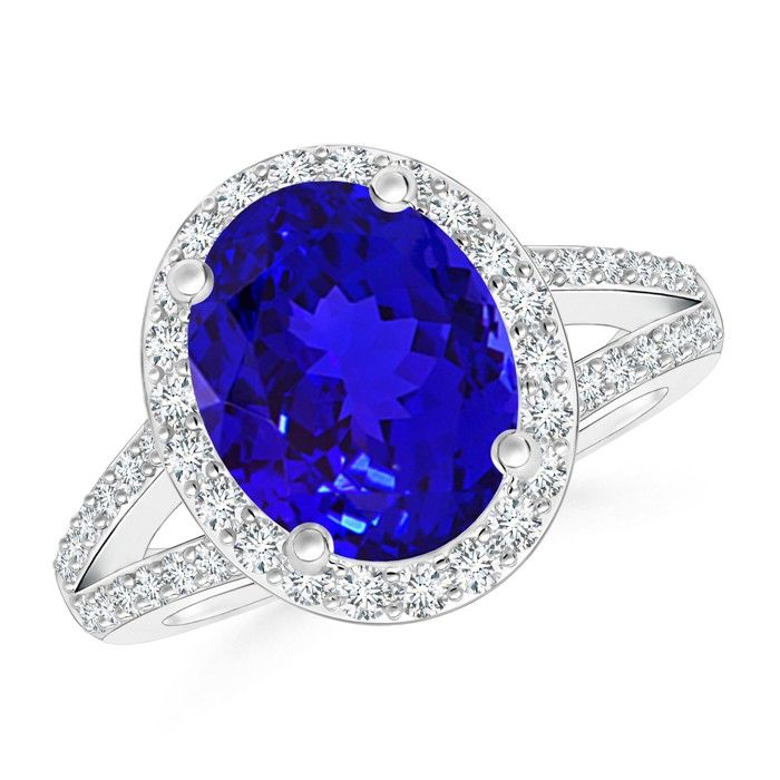 Angara Vintage Tanzanite Ring in White Gold wyvtVj56