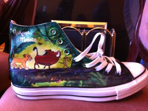 CONVERSE All Star LITTLE MERMAID W. Disney cartoon hand painted shoes zapatos | eBay