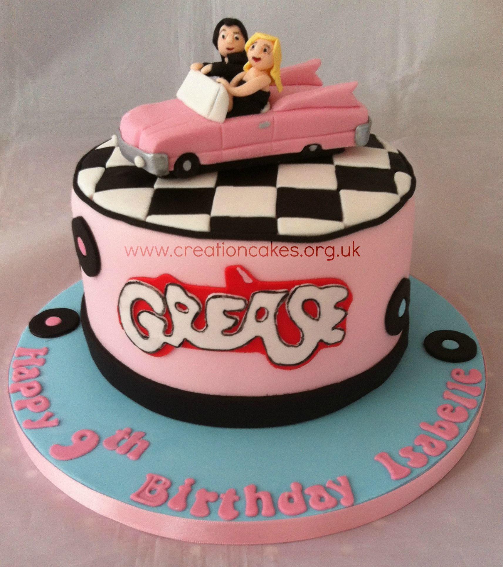 Grease Themed Birthday Cake | Cake birthday | Pinterest | Birthday ...