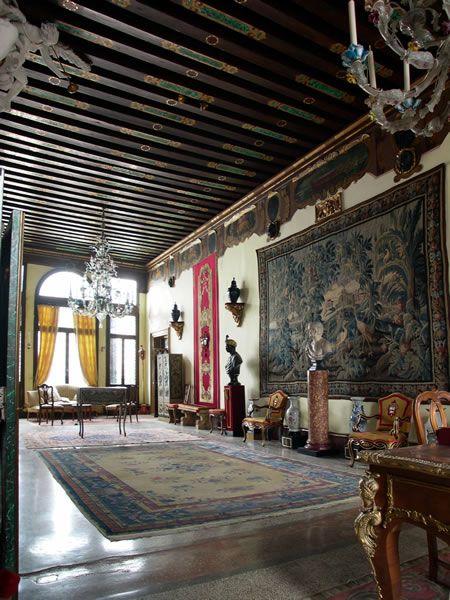 Elaborate Baroque Decor In The Palazzo Merati Of Venezia