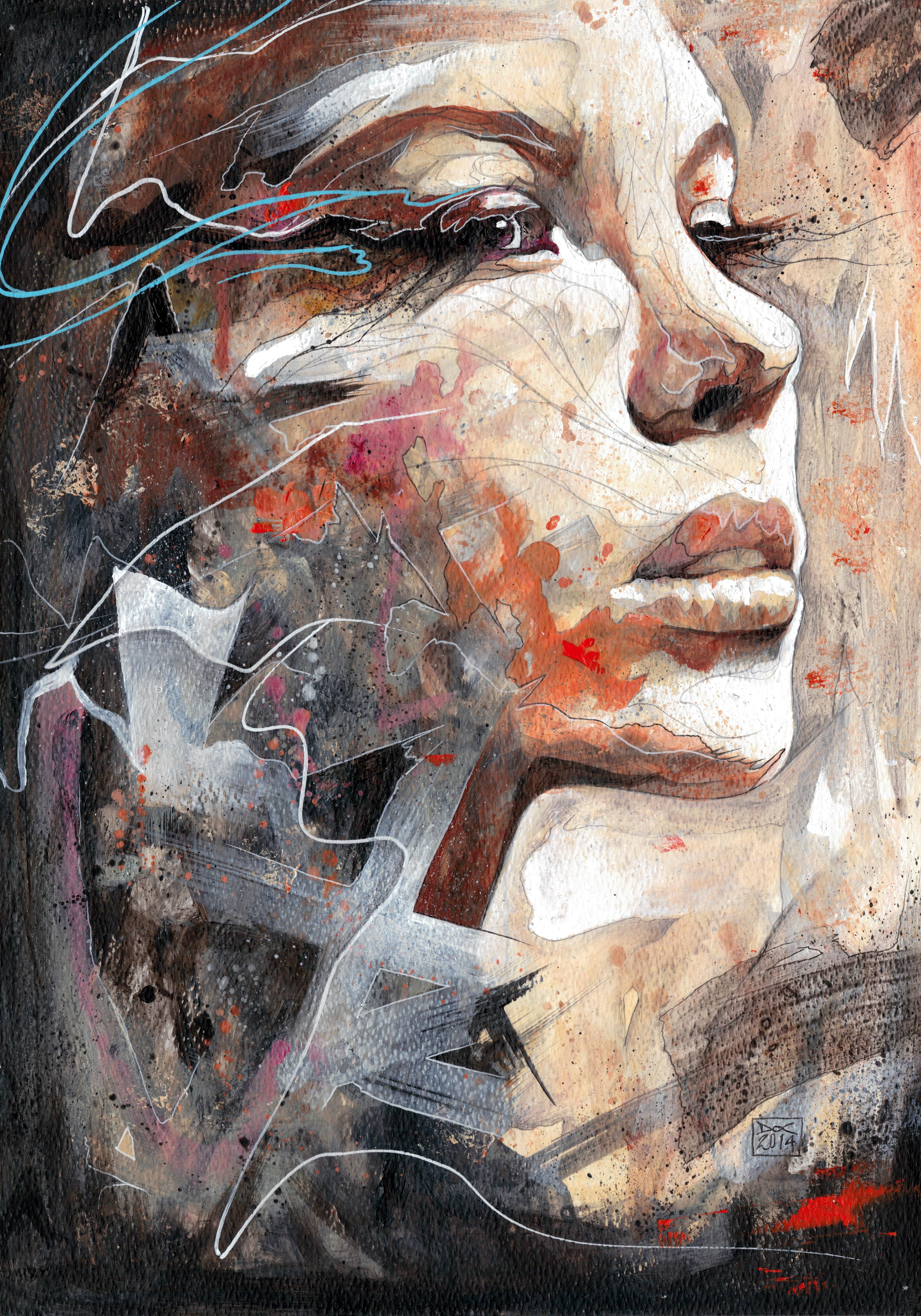 Danny O'Connor abstract portraits Painting used in Colleen Hoover CONFESS Auburn: