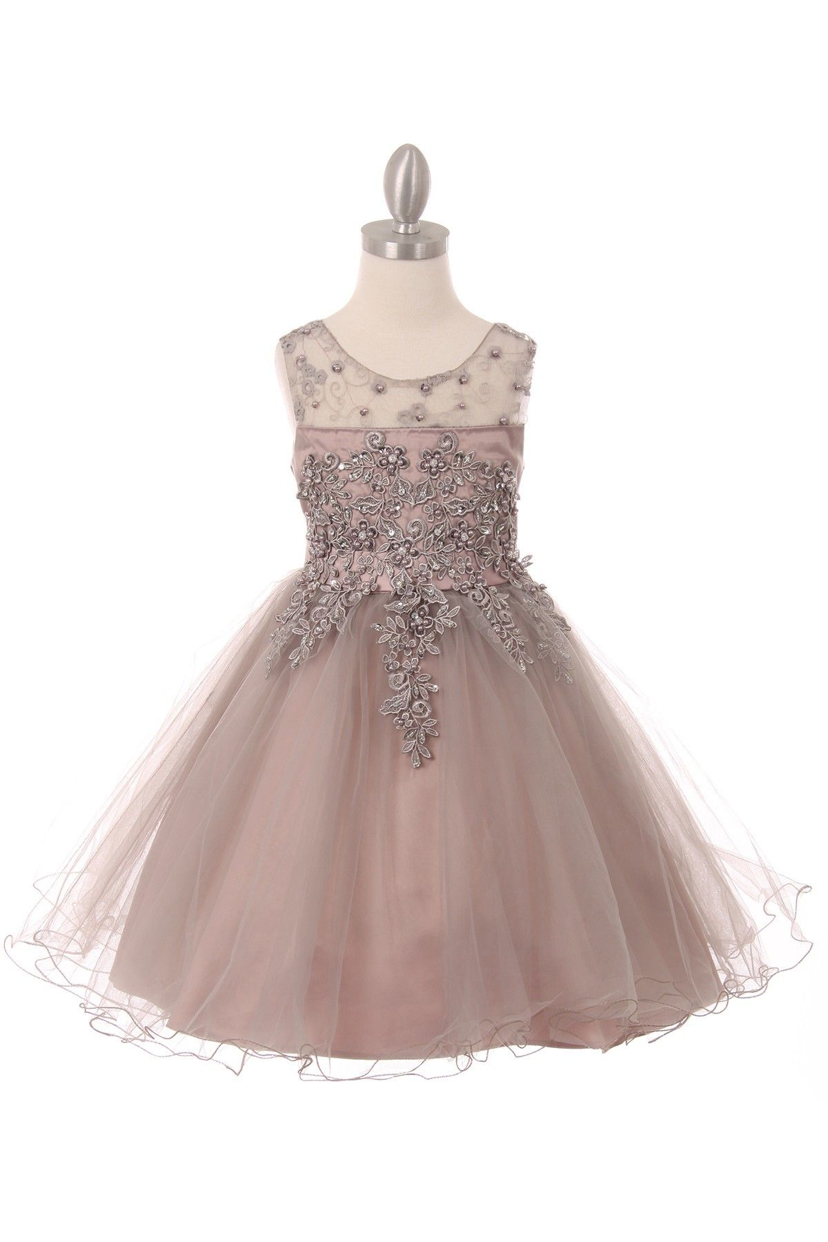 f9765031f Girls embroidered lace dress. Colors  rose