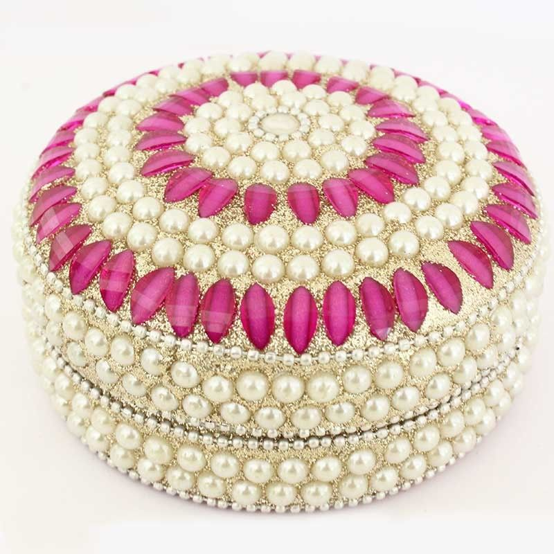 Decorative Jewellery Boxes New Buy Pearl Decorative Jewellery Box With Pink Semi Precious Stones Inspiration Design