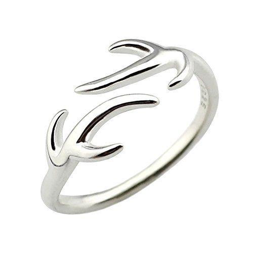 ELBLUVF 925 Sterling Silver Deer Adjustable Knuckle Antler Ring 1.4g, http://www.amazon.com/dp/B00PS4RZAQ/ref=cm_sw_r_pi_awdm_489nwb0NRS0PB
