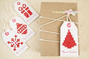 Idee Per Natale Cross Stitch Embroidery Christmas Tag Christmas