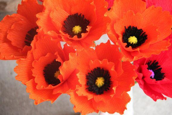 Poppy flowers orange poppy paper poppy crepe by flowerbazaar 3000 poppy flowers orange poppy paper poppy crepe by flowerbazaar 3000 mightylinksfo Gallery