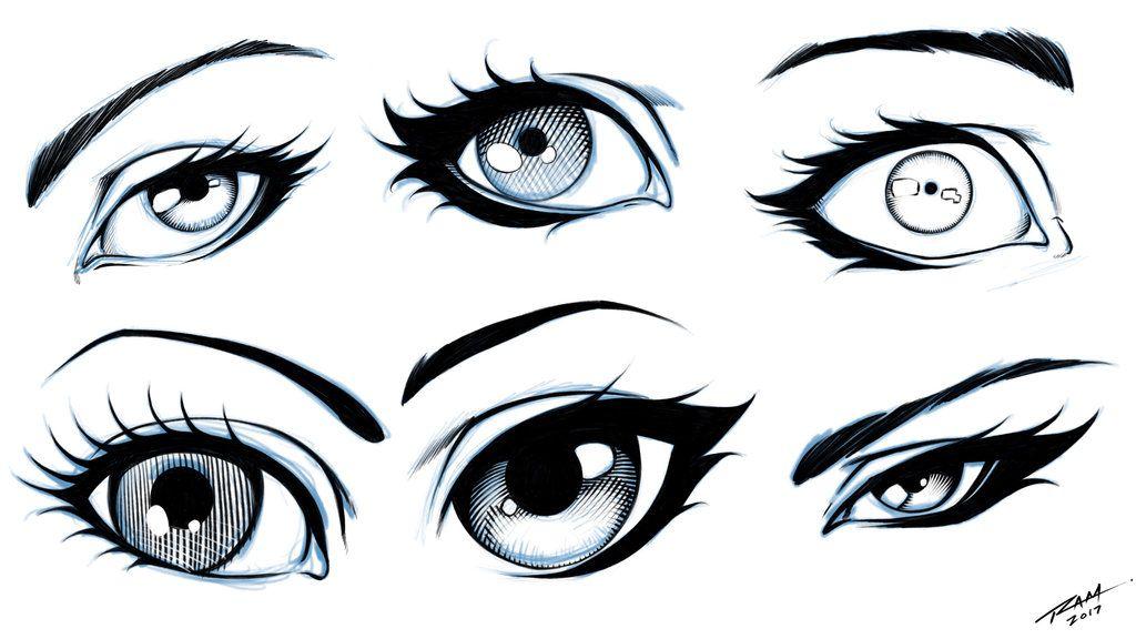 Eyes 6 Different Styles By Robertmarzullo Deviantart Com On Deviantart Eye Drawing Cartoon Art Drawing Cartoon Drawings